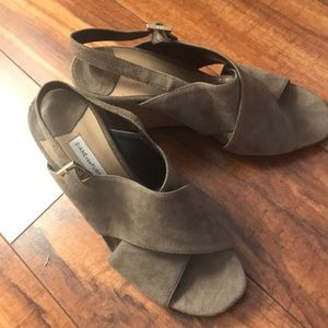 Suede DVF wedges size 6